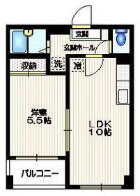山主ビル2階Fの間取り画像