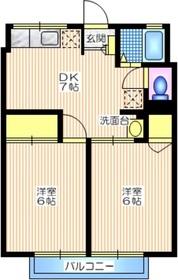 シティハイム ベルメゾンF1階Fの間取り画像