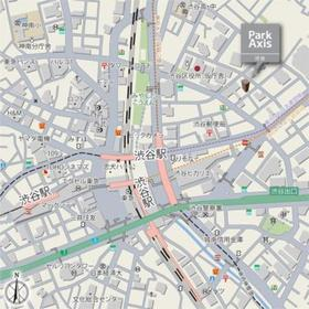 パークアクシス渋谷案内図