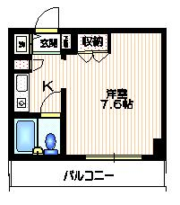 パークアヴェニュー新宿西間取図