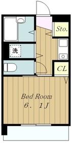橋本ビル3階Fの間取り画像