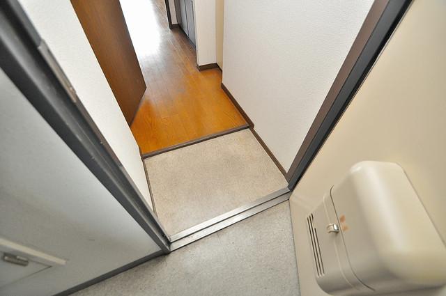 高井田ル・グラン 玄関から部屋が見えないので急な来客でも安心です。