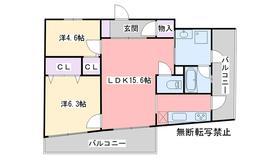 カルシア姪浜ノヴァリア3階Fの間取り画像