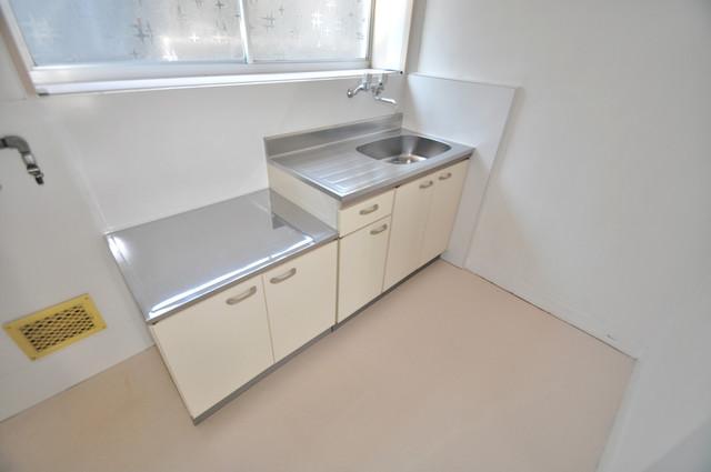 太平寺2丁目 連棟住宅 大きなキッチンはお料理の時間を楽しくしてくれます。