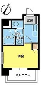 スカイコート日本橋浜町公園4階Fの間取り画像