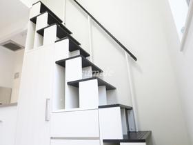 ロフトへ上がる階段安定していて上がりやす♪