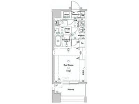 DIPS神楽坂9階Fの間取り画像
