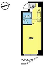 スカイコート中野南台第24階Fの間取り画像