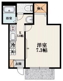 Duo泉1階Fの間取り画像