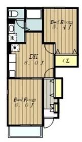 ベルメゾンⅡ1階Fの間取り画像