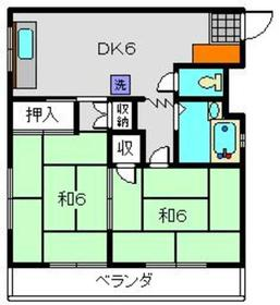 コペル横塚2階Fの間取り画像
