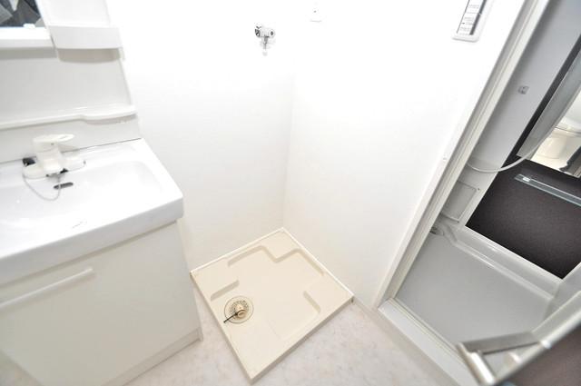 CLASSY舎利寺 洗濯機置場が室内にあると本当に助かりますよね。
