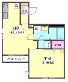 千鳥コラージュ 302号室