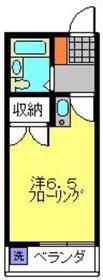 平間駅 徒歩14分2階Fの間取り画像