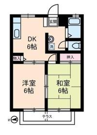 川崎新町駅 徒歩6分1階Fの間取り画像