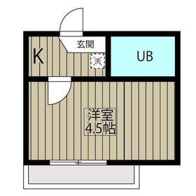 ベルローズ狛江1階Fの間取り画像