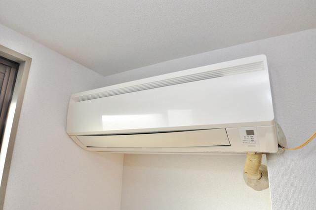 プレアール布施 エアコンがあるのはうれしいですね。ちょっぴり得した気分。