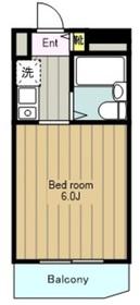 サンマールかしわ台6階Fの間取り画像