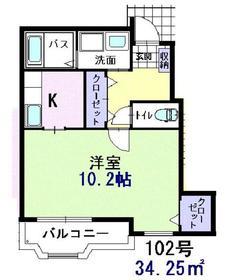 ラフィネ1階Fの間取り画像