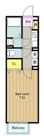 メゾンドプランドール2階Fの間取り画像
