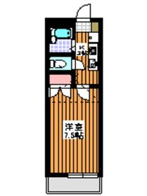 下赤塚駅 徒歩3分1階Fの間取り画像