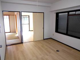 キッチン側から見たLDKと南面の洋室と和室