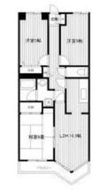 エンゼルパレス2階Fの間取り画像