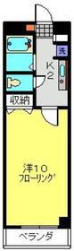オリーブフォレスト1階Fの間取り画像