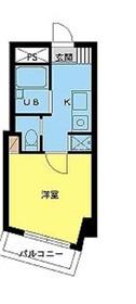 スカイコート目黒壱番館4階Fの間取り画像