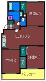ヴェラクレスト弐番館2階Fの間取り画像