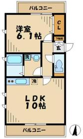 アヴェニュー唐木田2階Fの間取り画像
