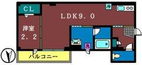 オークス6丁目マンション4階Fの間取り画像