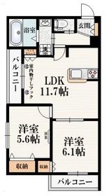 グランビュー高幡2階Fの間取り画像