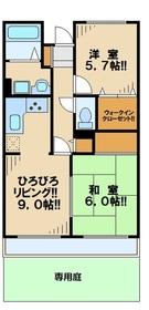 ガーデンピア桜ヶ丘1階Fの間取り画像