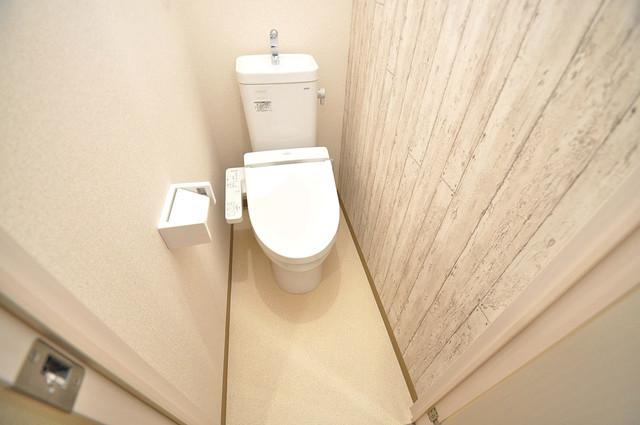 フジパレス高井田西Ⅱ番館 白くてピカピカのトイレですね。癒しの空間になりそう。