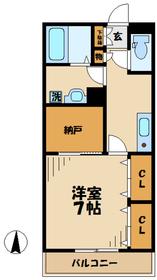 エレガンテ1階Fの間取り画像