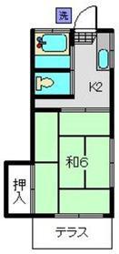 石川町駅 バス7分「本牧原停」徒歩2分1階Fの間取り画像
