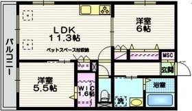 ラ・メゾン天王台2階Fの間取り画像