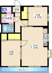 戸塚駅 バス15分「宮前」徒歩1分1階Fの間取り画像