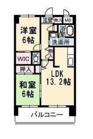 サンルーフパークマンション6階Fの間取り画像