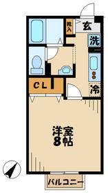 本厚木駅 バス9分「小金」徒歩2分2階Fの間取り画像