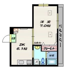アミティエ・シエル2階Fの間取り画像