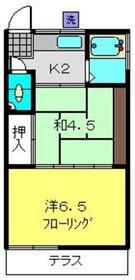 日吉本町駅 徒歩19分2階Fの間取り画像