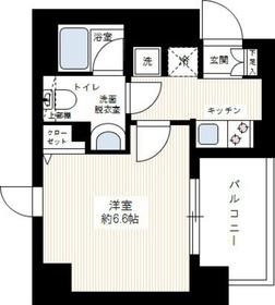ルクシェール横濱吉野町4階Fの間取り画像