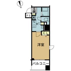 スカイコート浅草雷門3階Fの間取り画像