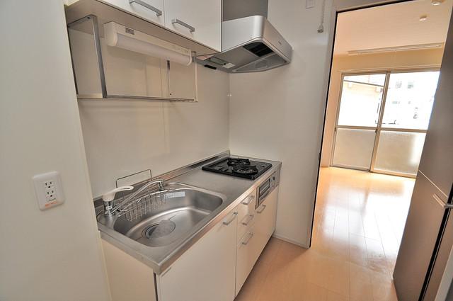 エクレール上小阪 システムキッチンなので広々使えて、お料理もはかどります。