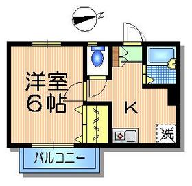 メゾンアルカディア1階Fの間取り画像