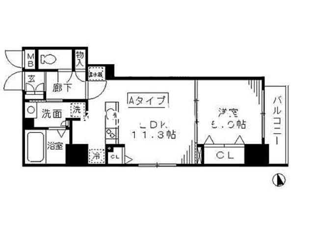 (仮称)日本橋茅場町3丁目計画間取図