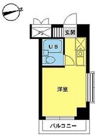 スカイコート八王子第35階Fの間取り画像