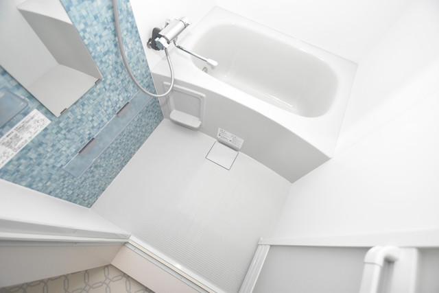 クリエオーレ巽中Ⅰ ちょうどいいサイズのお風呂です。お掃除も楽にできますよ。